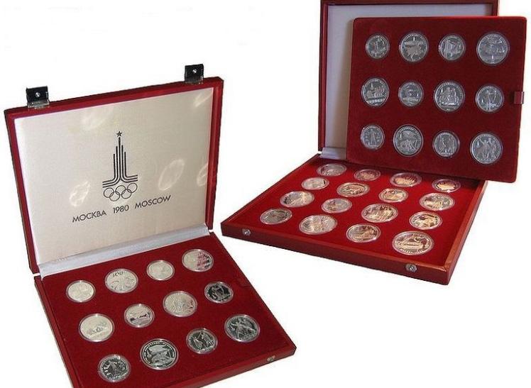 Комплект серебряных монет Олимпиада-80