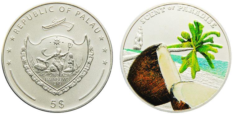 монета с запахом кокоса