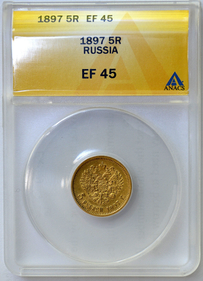 ANACS пример монеты в слабе