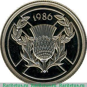 Эмблема фунта стерлингов один рубль 1967