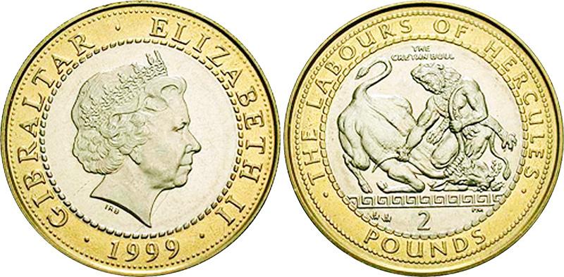 2 фунта Гибралтара Подвиги Геракла