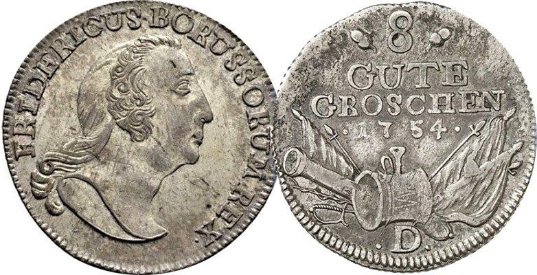 8 грошей 1754