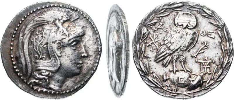монета Афин