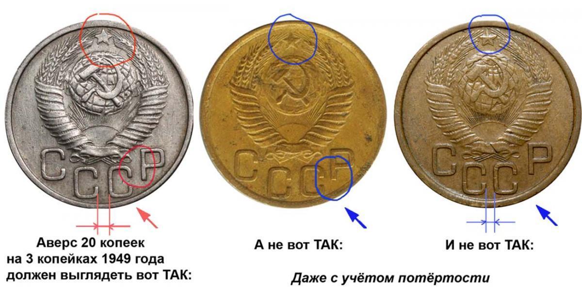 Монеты перепутки ссср одной линией пересечь все стороны
