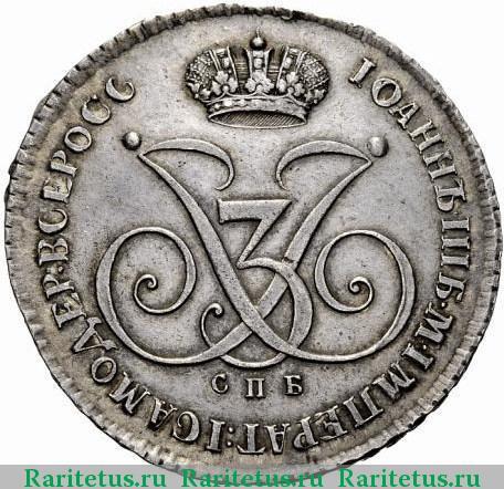 Монета рубль 1740 иоанн 5 копейки 1954 года цена