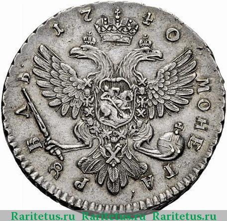 Серебряный рубль 1740 года с вензелем цены на монеты ссср в беларуси