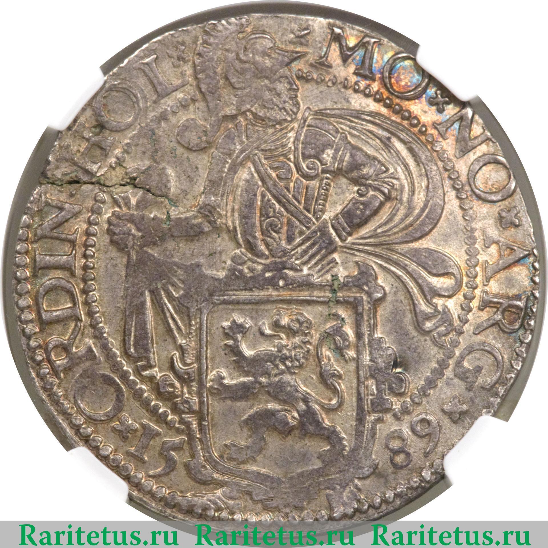 Аверс монеты даалдер (даальдер, дальдер, daalder) 1589 года