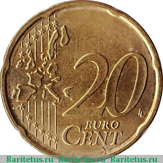 Монета 20 euro cent 2005 сколько стоит 10 рублей республика башкортостан цена