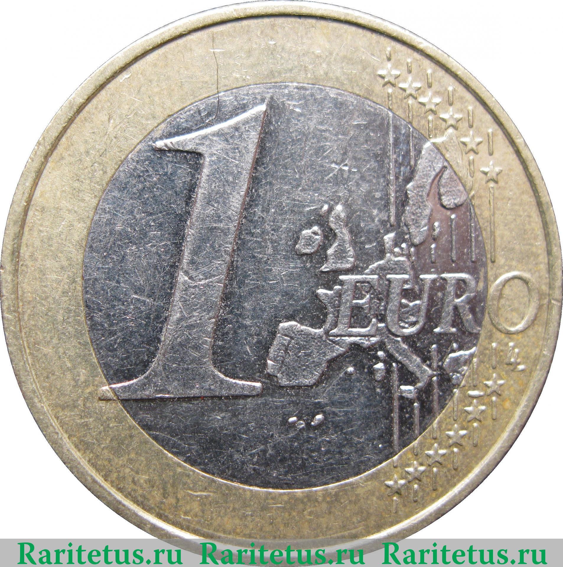 1 евро 1999 года цена франция денга 1740 года цена