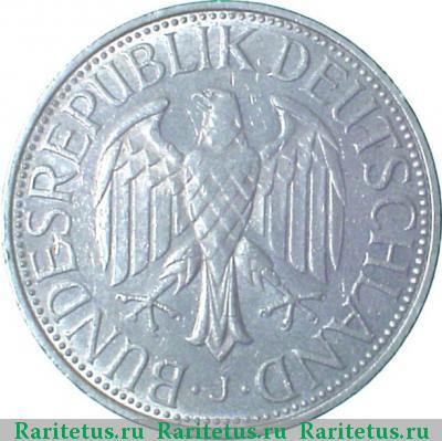 Аверс монеты 1 марка (deutsche mark) 1991