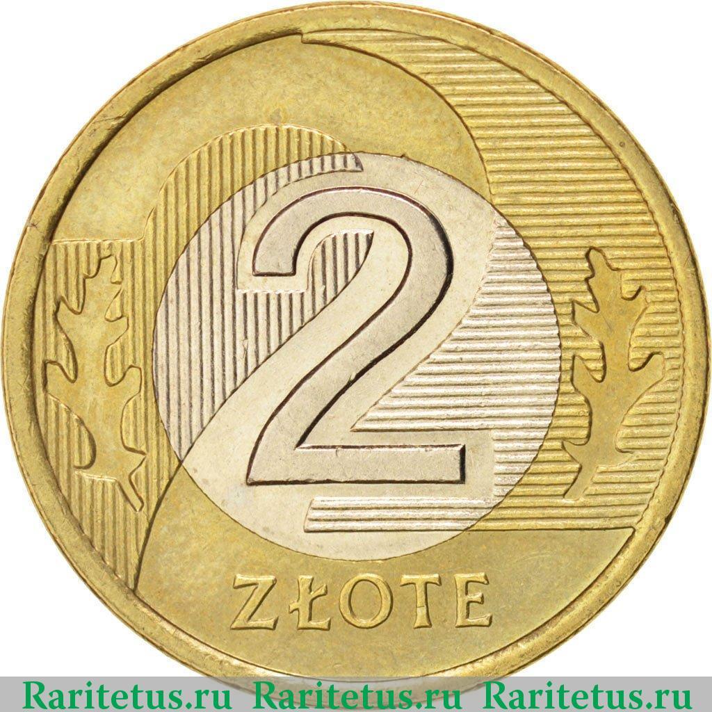 Монета 2 злотых 1995 года цена 25 копеек 1994 года цена ураина