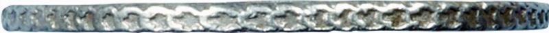 Гурт монеты 1 рубль 1730 года  параллелен, c фестонами