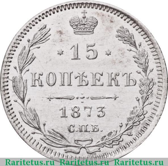 15 копеек 1873 года цена серебро банкноты россии 1915 года