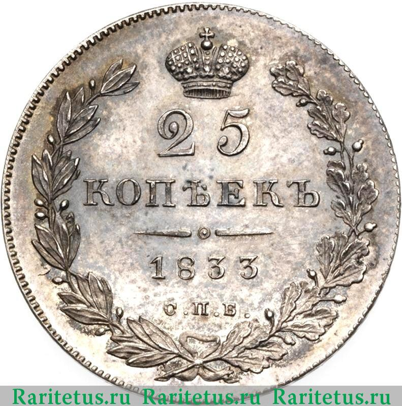 Монета 1833 года цена 15 копеек 1935 года цена в украине