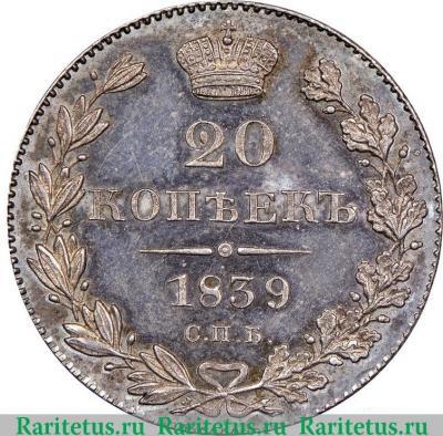 20 копеек 1839 российские платиновые монеты