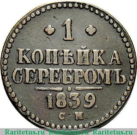 1 копейка серебром 1845 года цена