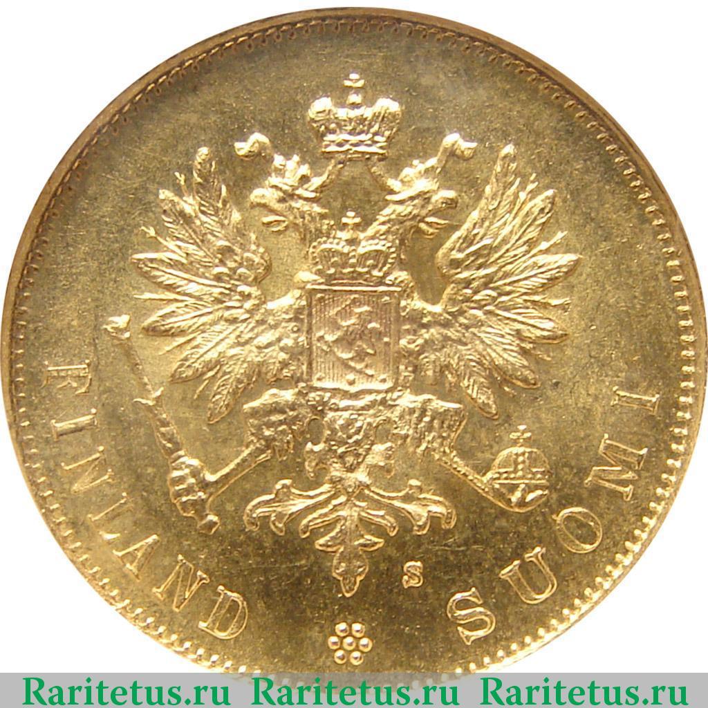 Аверс монеты 10 марок 1882 года S